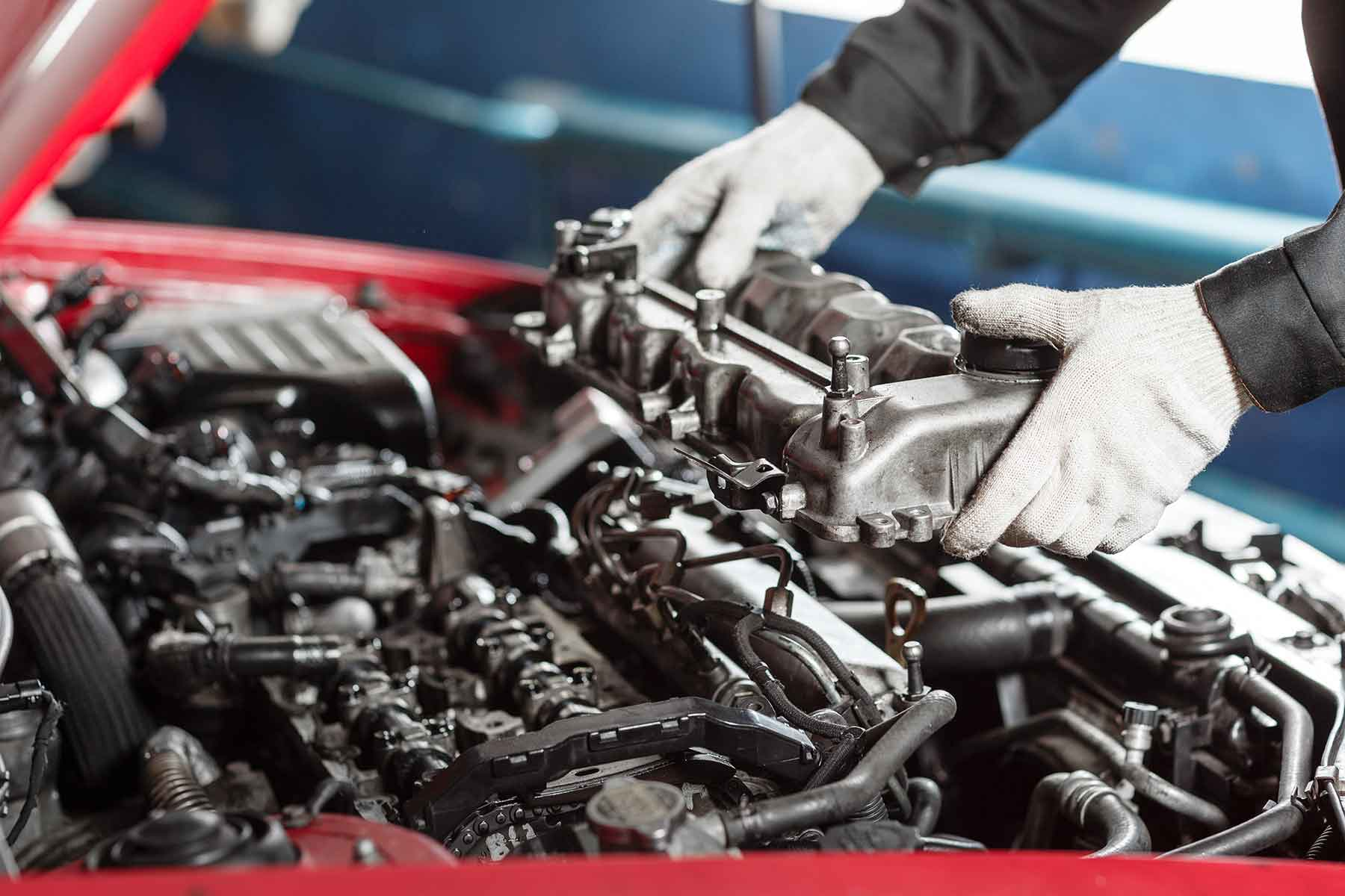 Engine work at hoffmaster's auto care